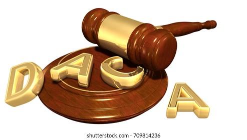 DACA Deferred Action For Childhood Arrivals Legal Concept 3D Illustration