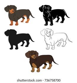 dachshund set