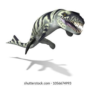 The Dakosaurus was an undersea carnivore that lived during the Cretaceous and Jurassic periods - 3d render.