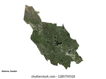 Dalarna, Sweden Map (3D illustration)