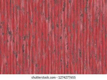 damage old red wood plank wall 3d illustration 35x25cm 300dpi