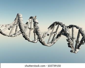 Damaged White DNA Strands