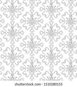 Damaks osmanlı lale çiçeği tek renkli desen.  İllüstrasyon