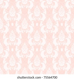 Damask floral seamless pattern in pink