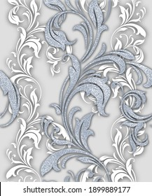 Damask pattern. Rich ornament, old damascus style pattern for wallpapers, textile, scrapbooking etc.