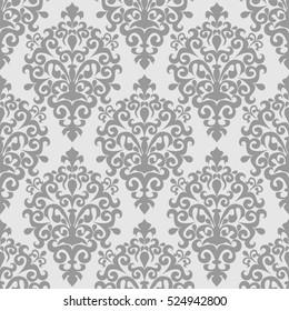Damask seamless  ornamental Wallpaper for design. Raster version.