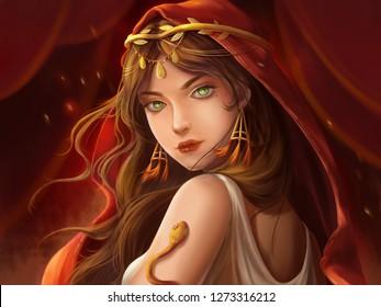 Dancer. Portrait Artwork. Concept Art. Realistic Illustration. Video Game Digital CG Artwork. Character Design.