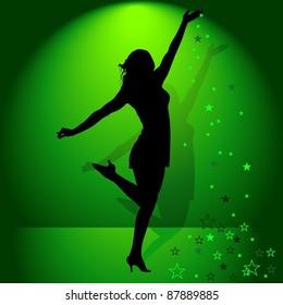 Dancing Girl and Falling Stars