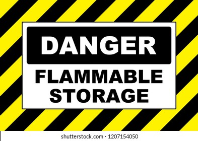 danger flammable storage sign placard board