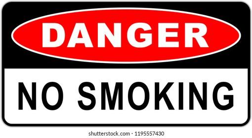 Danger: No smoking sign