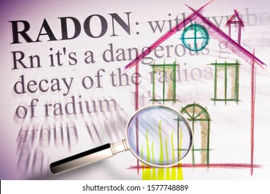 The danger of radon gas in our homes - the first floors of the buildings are the most exposed to radon gas - concept illustration.