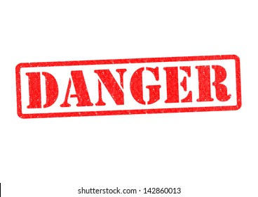 DANGER Rubber Stamp over a white background.
