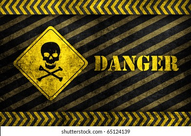 Skull Danger Sign Images, Stock Photos & Vectors   Shutterstock