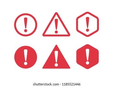 Danger sign flat design. Caution error icon.
