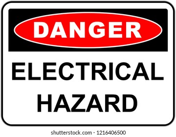 Danger sign in United  States: electrical hazard