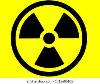 Danger signs. Radiation sign, Biohazard sign, Chemical