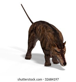 Dangerous dinosaur Andrewsarchus With Clipping Path over white
