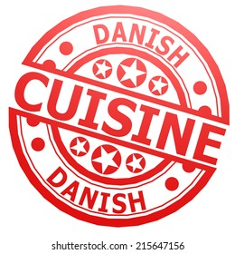 Danish cuisine stamp