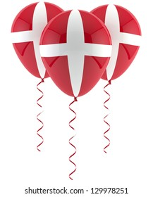 Danish flag balloon