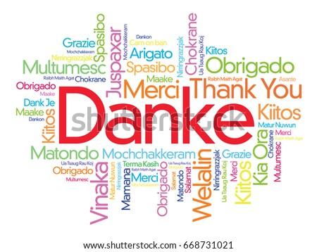 danke thank you german word cloudのイラスト素材 668731021 shutterstock