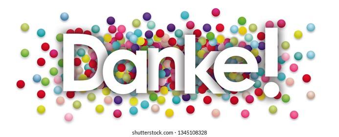 danke word and Colors Balls