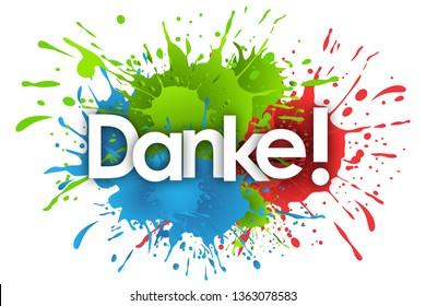danke word and splashs