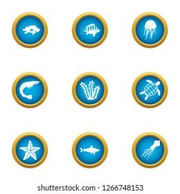 Dap icons set. Flat set of 9 dap icons for web isolated on white background