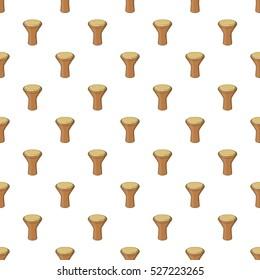 Darbuka, percussive musical instrument pattern. Cartoon illustration of darbuka, percussive musical instrument  pattern for web