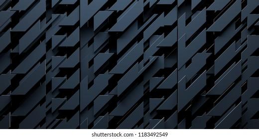 Dark Abstract Background (3D Illustration)