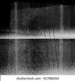 Dark, abstract photocopy texture with halftone pattern