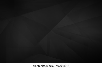 Dark abstract polygonal mosaic background, creative design template