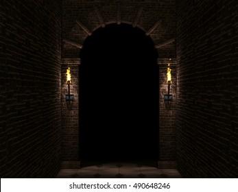 Dark arch 3d illustration