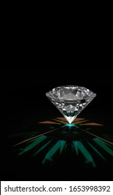 Dark background of diamond model made by 3D rendering