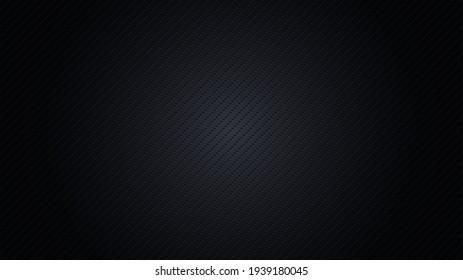 Dark background with lighting. Carbon fiber texture,  illustration.