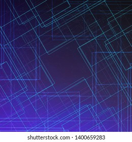 dark background square lines simple texture abstract technological art