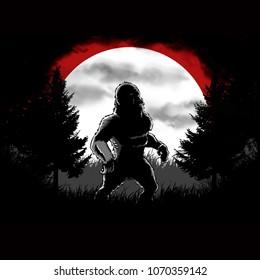 Dark bigfoot forest