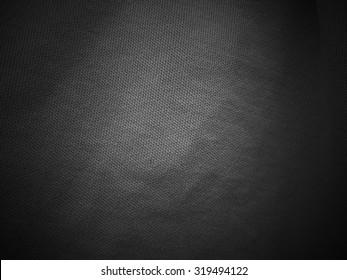 Dark black fabric texture background, linen
