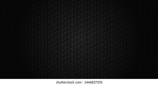Dark black Geometric grid background. Modern dark abstract texture