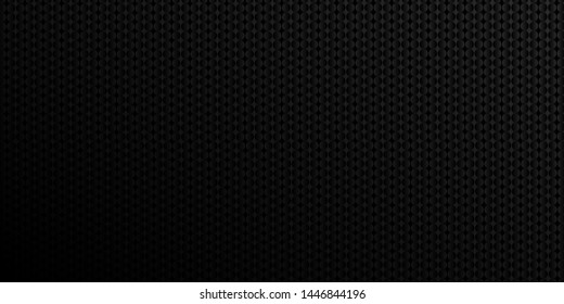Dark black Geometric grid background. Modern dark abstract texture