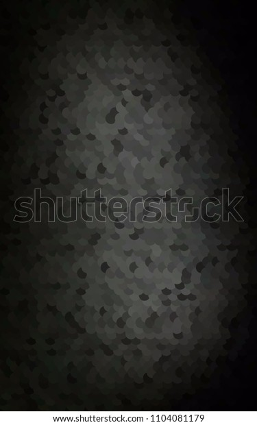 Dark Black vertical red pattern of geometric circles, shapes. Colorful mosaic banner. Geometric background with colored disks.