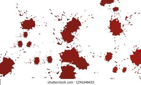 Dark blood on white background.