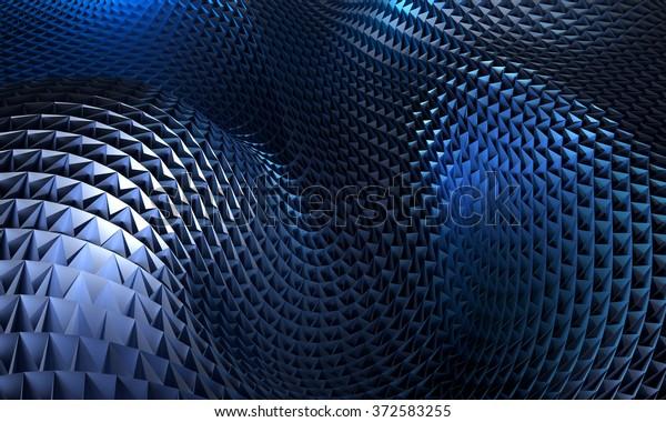 Dark Blue Abstract Art Wallpaper Small Stock Illustration