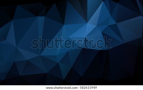 Dark Blue Abstract Triangular Mosaic Polygonal Background
