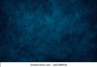 Dark blue azure turquoise abstract watercolor background for textures backgrounds and web banners design