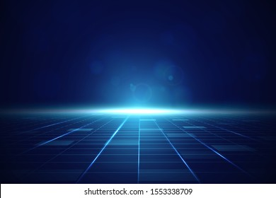 Dark blue Futuristic background - Image