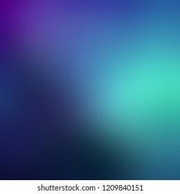 фотообои Dark blue lilac turquoise ombre background. Night sky gleam defocus texture. Blurred pattern. Mystery illumination abstract illustration.