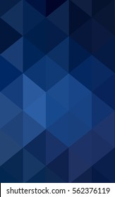 DARK BLUE polygonal illustration, which consist of triangles. Triangular design for your business. Creative geometric background in Origami style with gradient