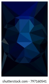 DARK BLUE polygonal illustration, which consist of triangles with a gemstone in center. Triangular design of a huge diamond for your business. Creative geometric background of gems.