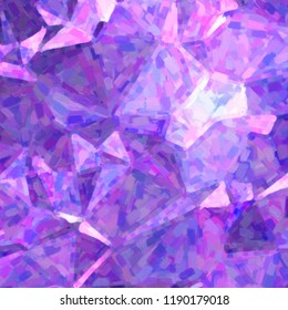 Dark blue and purple Impressionist Oil Painting in square shape background illustration.