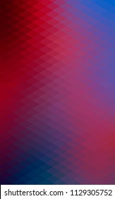 Dark Blue, Red vertical abstract colorful background, which consist of triangles. Pattern with colored triangles on white background.